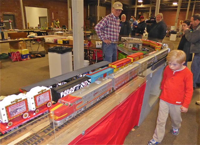 Circus & Passenger trains passing